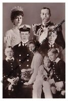 mm753-King George V & Queen Mary & their children inc John montage-Royalty photo