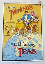 Vintage Twining's Enamel Sign / Enamel on Metal / Cool / Retro / Kitchen / Cafe