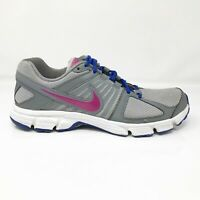 Nike Womens Downshifter 5 537571-008 Gray Pink Running Shoes Lace Up Size 9