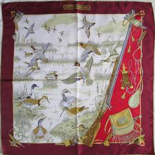 -Superbe Foulard COUTURE ZURICH soie  TBEG vintage scarf 86 x 88 cm