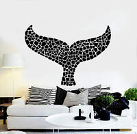 Vinyl Wall Decal Whale Tail Marine Animal Room Decor Stickers (ig4359)