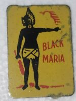 Black Maria vintage tin tobacco tag tobacco tin vintage