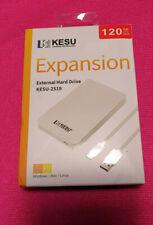 KESU 120Go Disque Dur Externe Portable Type C USB3.1, Stockage 120GB, Blanc