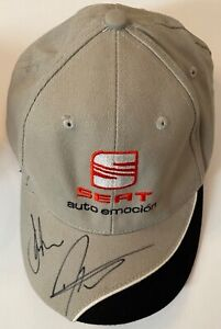 James Thompson and Darren Turner Hand Signed Seat Cap - Touring Cars Autograph