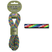 Tie Dye Rainbow 550 Parachute Cord Paracord for survival bracelets jewelry craft