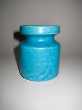 schöne türkis blaue Keramik Vase Craquele Mid Century Modern Interieur TOP
