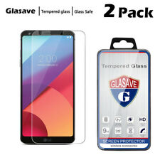 [2-Pack]Glasave Clear Slim Tempered Glass Screen Protector Film Saver For LG G6