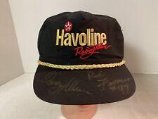 VINTAGE Signed SnapBack Hat Cap Nascar Davey Allison & Red Farmer Havoline USA