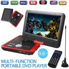 """Portable Mini 9.8"""" DVD Player 270° Swivel Screen W/Rechargeable Battery SD USB"""