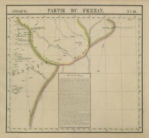 Afrique. Partie du Fezzan #10 Eastern Libya. Sahara Desert VANDERMAELEN 1827 map