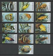 MARSHALL ISLANDS, SCOTT # 911-923, COMPLETE SET OF 13 TROPICAL FISH, MNH