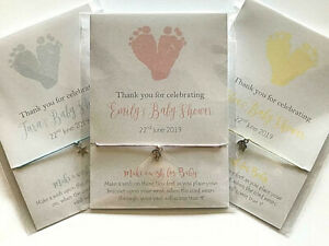 Baby Shower Favour, Friendship /wish bracelet, girl, boy, Footprints baby gift