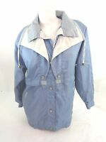 CURRENT SEEN WOMENS LIGHT BLUE NYLON WINDBREAKER JACKET SIZE S