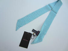 Paul Smith Neck Tie Ladies Skinny Neck Tie / Scarf 100% Silk Made in Italy