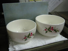 2 Universal Cambridge Woodvine Pattern Serving/Mixing Bowl Permacal