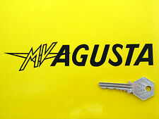MV AGUSTA Text Cut Vinyl 175mm Pair Motorcycle STICKERS Classic Moto Ago F1 F4