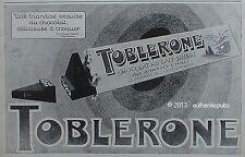 PUBLICITE TOBLERONE CHOCOLAT LAIT SUISSE AUX AMANDES ET MIEL DE 1927 FRENCH AD