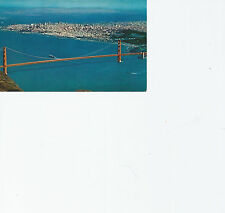 Air View Golden Gate Bridge San Francisco CA  SF-19  Chrome Postcard 41813