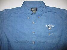 JACK DANIELS Denim Long Sleeve Button Down Shirt Men's XL Coosa County Clothiers