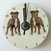 Staffordshire Bull Terrier CD Clock by Curiosity Crafts (A)