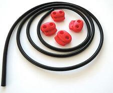 TUBO in gomma IN SILICONE CONDUTTIVO decine/ST/E-Stim MACCHINA 4 mm od 1.75 mm ID