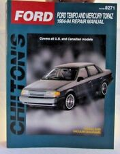 Chilton's Manual - 8271 - Ford Temp and Mercury Topaz 1984-1994