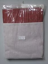 "Queen Rust Colored  Pin Striped Bed Skirt Dust Ruffle Size 60"" x 80"" x 13.5"""