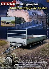 Prospekt Henra Drehschemel Anhänger 2002 brochure turntable trailer remorque