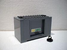LEGO® Eisenbahn Container grau  für 3677, 7898, 7938, 7939 - City - NEU 1