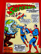 Superman #169 May 1964 Original DC Comic Book FN+6.5 Bizarro Invasion of Earth
