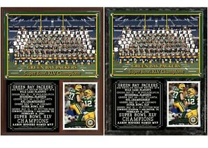 2010 Super Bowl XLV Green Bay Packers Photo Card Plaque