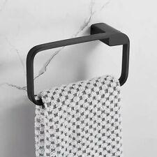 Bathroom Towel Ring Towel Bar Lavatory Towel Rack Holder Stainless steel Black