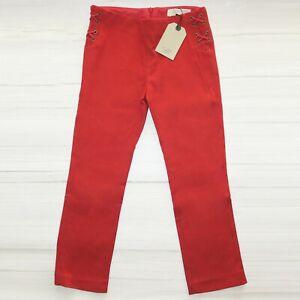 Zara Girls Red Trousers Zipped back Adjustable waist Size 9-10 years