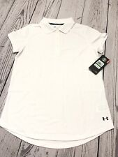 Under Armour Girls White School Uniform Polo Shirt Loose Fit YLG RV Size L / $29