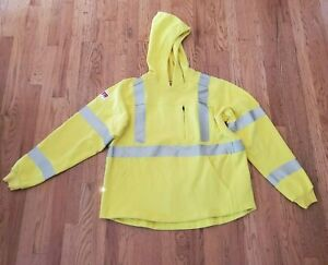 Lakeland FR Reflective Yellow Hoodie Jacket Mens Large