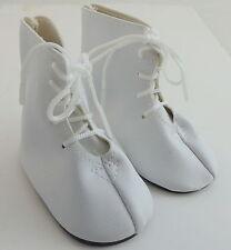 """Paire de Chaussures poupées Delight blanc lacets bottes pour s' adapter à 18 """"doll longueur 3"""" 7.5 cm"""