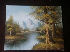 PAINTING mountains TREES SIGNED by Dante