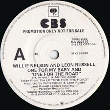 Willie Nelson & Leon Russell ORIG OZ Promo 45 One for my baby EX '79 CBS Country