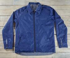 QUIKSILVER Reversible Zip Up Blue Jacket Double Pocket Shirt Size L Large
