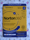NEW Norton 360 Deluxe 5 Devices 1 Year w/ Virus, Malware & MORE protection