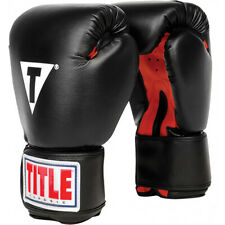 Title Boxing Classic Hook and Loop Vinyle Training Gloves Genuine Leather