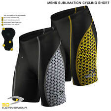 Mens Padded Cycling Shorts Sublimation Bike Knicks Half Tight Base Layer Bicycle