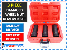 "GRIP LOCKING DAMAGED WHEEL NUT REMOVER REMOVAL TOOL SOCKET SET 3 PC 1/2"" #CT4489"