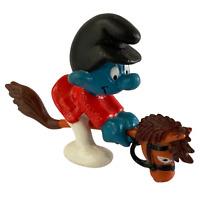 Smurfs Hobby Horse Smurf Figurine Figure Vintage 80s Toy Peyo Schleich Hong Kong