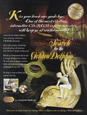SEARCH FOR THE GOLDEN DOLPHIN Mac PC CD Rom video game videogame print ad page