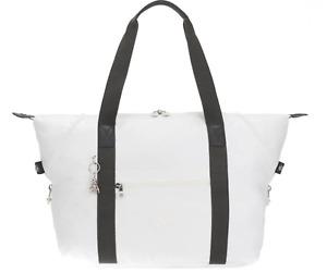 Kipling Large Travel Bag ART M Shoulder Bag WHITE METALLIC SS20 RRP £102