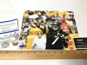 Ben Roethlisberger Signed Autographed 8x10 Photo (Pittsburgh Steelers) COA