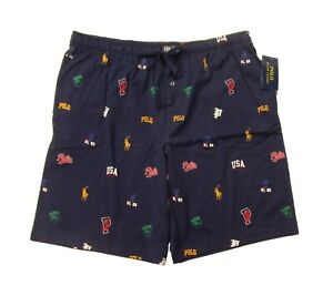 Polo Ralph Lauren Men's Navy Tossed Icons Print Sleep Pajama Shorts
