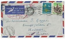 COVER SOUTH AFRICA CAPETOWN TO SWEDEN VIA PORT ELIZABETH. L469
