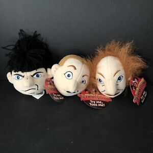 The Three Stooges Plush Small Slammer Heads 1997 Working Sound Works